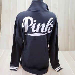 PINK Victoria's Secret Sweatshirt NWT S Gray Logo